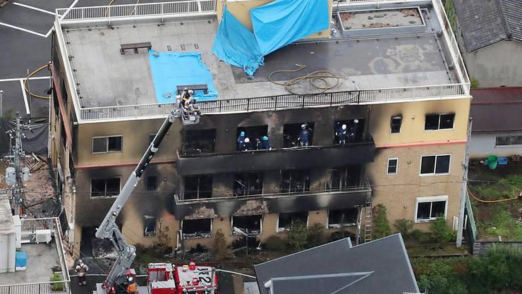 Ein musmasslicher Brandanschlag auf ein Zeichen-Trickfilmstudio im japanischen Kyoto hat 33 Todesopfer und 36 Verletzte gefordert.