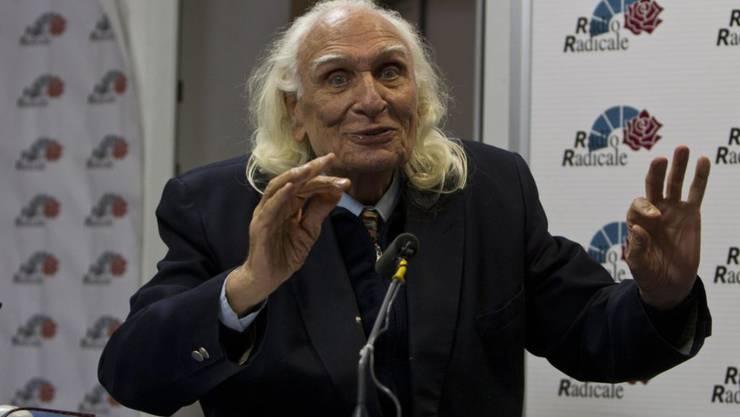 Marco Pannella bei einem Radio-Auftritt im Jahr 2012. (Archiv)