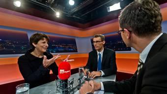 Jolanda Urech und Lukas Pfisterer im «TalkTäglich» auf Tele M1.