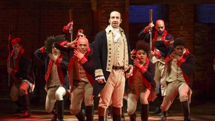 """Szene aus dem Broadway-Musical """"Hamilton"""", das im April den Pulitzer-Preis erhalten und jetzt einen Einspielrekord erzielt hat. (Archivbild)"""