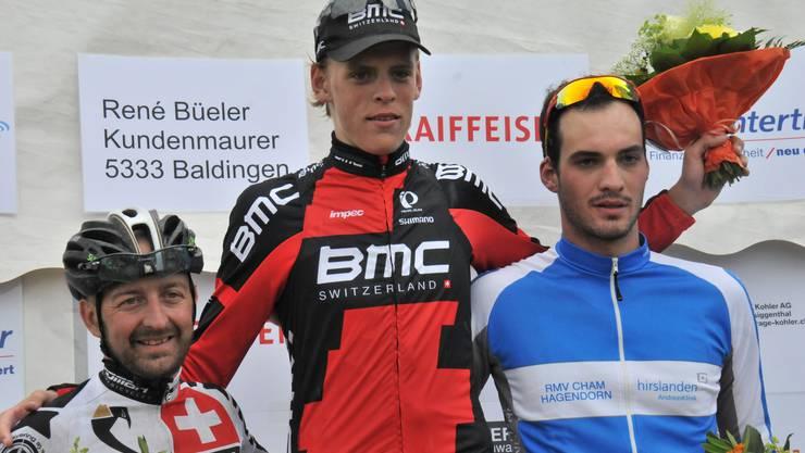 Patrick Müller (Mitte) siegt vor Gianmario Rovaletti (links) und Fabian Kiser