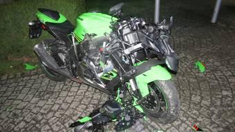 Motorradunfall in Rheinfelden: Am Motorrad entstand ein Totalschaden