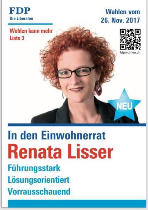Renata Lissers Wahlplakat auf Facebook