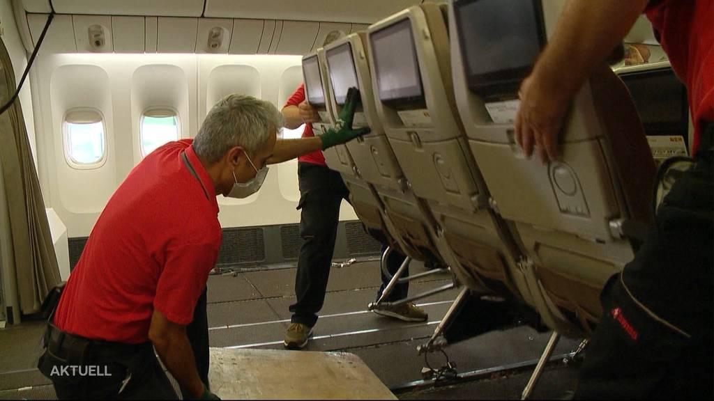 So werden Passagierflugzeuge der Swiss zu Frachtflieger umgebaut