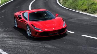 Der F8 Tributo ist der jüngste Spross der Ferrari V8-Mittelmotormodelle. Bild: zvg