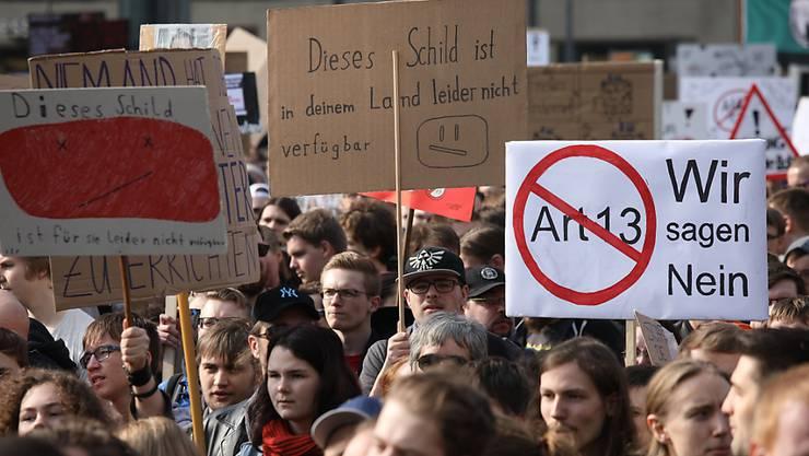 Keine Filter im Internet: Tausende demonstrieren in Berlin gegen das neue Urheberrecht der EU.