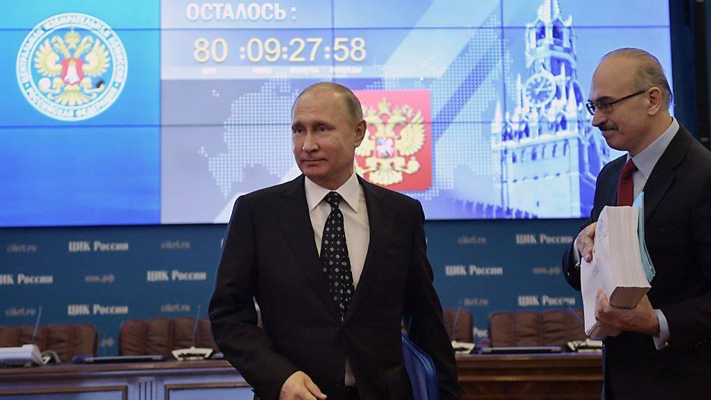 Der russische Präsident Wladimir Putin hat am Mittwoch offiziell seine Kandidatur für eine vierte Amtszeit eingereicht.