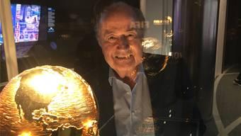 Seelenmassage: Sepp Blatter ist zurück in seiner Welt. François Schmid-Bechtel