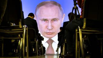 Russlands Präsident Wladimir Putin während seiner Rede an die Nation.