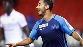 Salim Khelifi freut sich über sein 1:0 für den FCZ