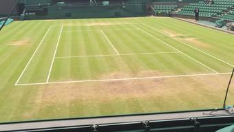 Nichts mehr mit heilig: Der Wimbledon Rasen ist gezeichnet.