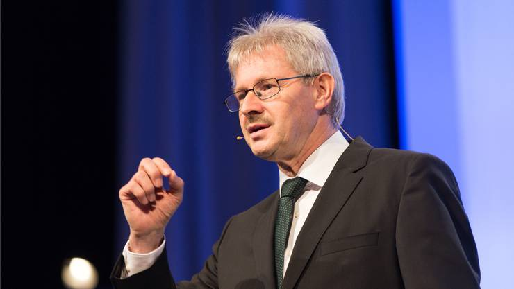 Kurt Schmid, Präsident des Aargauischen Gewerbeverbands. Bild: Claudio Thoma