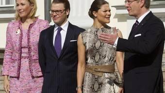 Das Ehepaar Wulff begrüsst Daniel und Victoria in Berlin