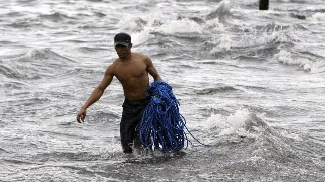 Ein Fischer auf den Philippinen