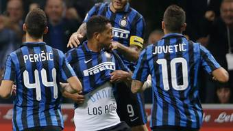 Derby-Jubel bei Inter dank Guarin (Mitte)