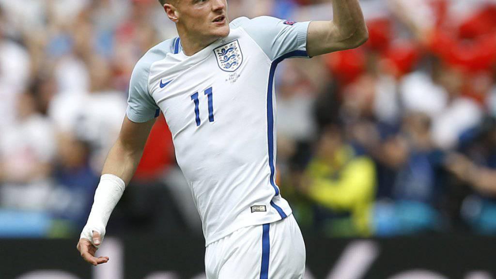 Der englische Internationale Jamie Vardy bleibt seinem Klub Leicester City treu