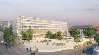 In Schweizer Grossstädten wächst der Anteil an Akademikern und Akademikerinnen. In Zürich machen Hochschulabgänger schon beinahe die Hälfte der Wohnbevölkerung aus. Ist das Projekt ''Hochschulgebiet Zürich Zentrum'' HGZZ (Bild) erst einmal realisiert, dürften es noch mehr werden. (Archivbild)