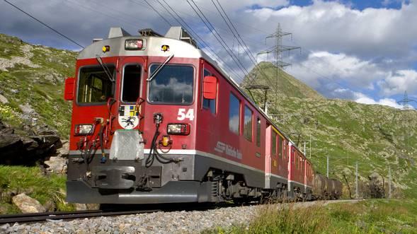 Bauzug zwischen Chur und St.Peter-Molinis entgleist