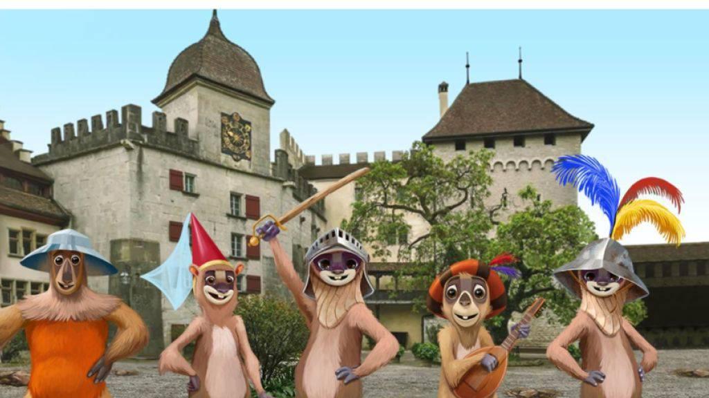 """Die virtuellen Murmeltiere der neuen Kultur-App """"Sqwiss"""" sollen Wanderfreunde künftig durch die ganze Schweiz führen. Vorerst sind sie auf dem Wanderweg """"ViaUrschweiz"""" im Einsatz. (Screenshot)"""