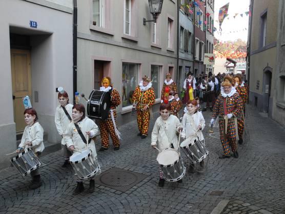 Salmanlandung mir vorhergehender Kindertschättermusik am 3.Faissen in Laufenburg zur Eröffnung der Fasnacht