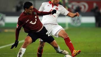 Matchwinner für Hannover: Mohammed Abdellaoue (vorne).