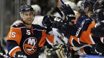 Jeff Tambellini im Dress der New York Islanders