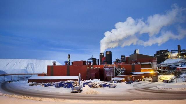 Das Industriegebiet im schwedischen Kiruna (Symbolbild)