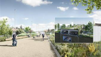 Eine innovative Einhausung soll die Anwohner von Zürich Schwamendingen künftig vor Lärm schützen.