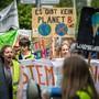 Die Klima-Aktivisten prägen zurzeit die Bundespolitik: Aufnahme von einer Kundgebung in Kreuzlingen am 11. Mai.