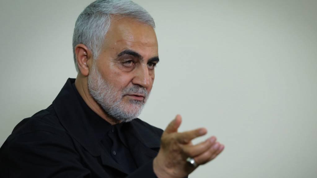 Der General Ghassem Soleimani entkam nach offiziellen Angaben des Iran nur knapp einem Attentat. (Archivbild)