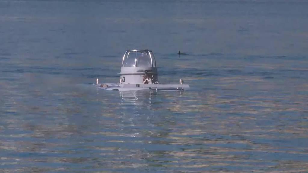 Das einzige U-Boot der Schweiz ist getauft und eingewassert
