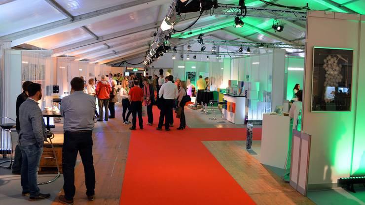 Die Besucher interessierten sich an der Expo Geissberg für die verschiedenen Produkte.
