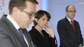 Bundesrätin Doris Leuthard brachte gute Nachrichten nach St. Gallen: Sie will beim Bahnausbau einen Teil der Forderungen aus der Ostschweiz erfüllen.