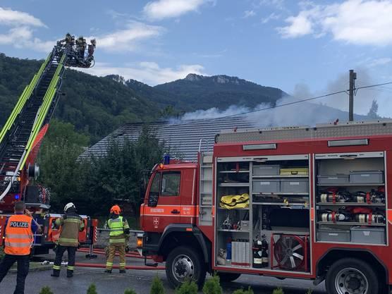 Die Feuerwehr konnte den Brand rasch löschen