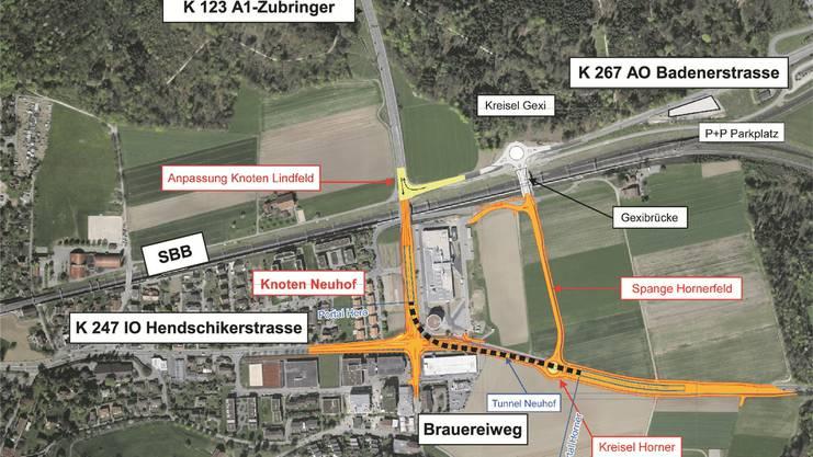 A1-Zubringer Lenzburg: Die Umleitung des Verkehrs an der Baustelle