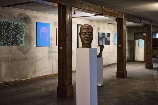Derzeit findet im Petershof zusätzlich eine Ausstellung zeitgenössischer Künstler statt.
