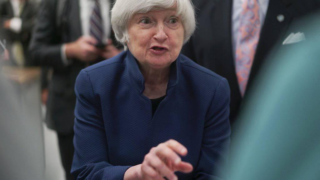 Janet Yellen, Chefin der US-amerikanischen Notenbank Fed, belässt den Leitzins nach der Novembersitzung unverändert. (Archiv)