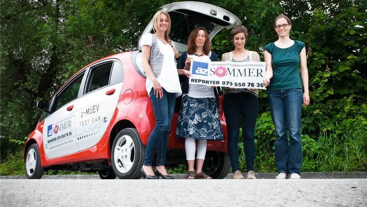 Das az-Sommerreporter-Team: Erna Lang, Barbara Vogt, Aline Wüst und Sabine Kuster.