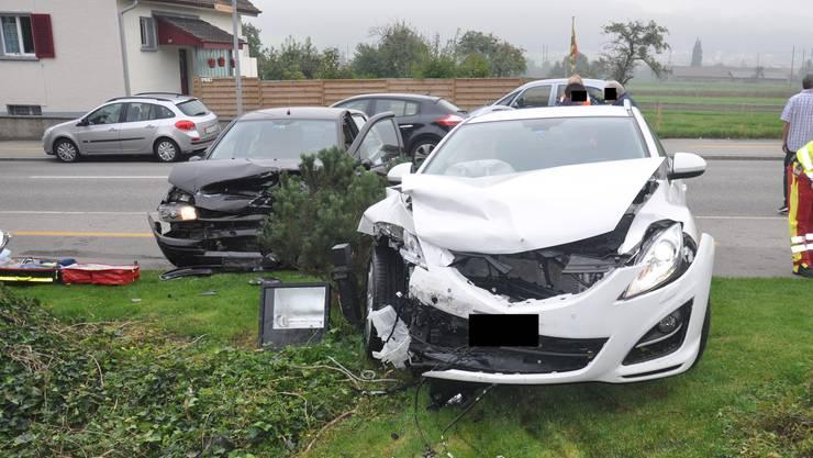 Nach Angaben des Fahrzeugslenkers funktionierten die Bremsen seines weissen Mazdas nicht.