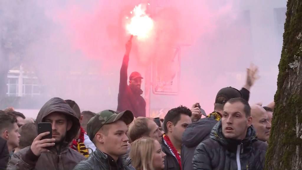 Feyenoord-Rotterdam-Fans wüten in Bern