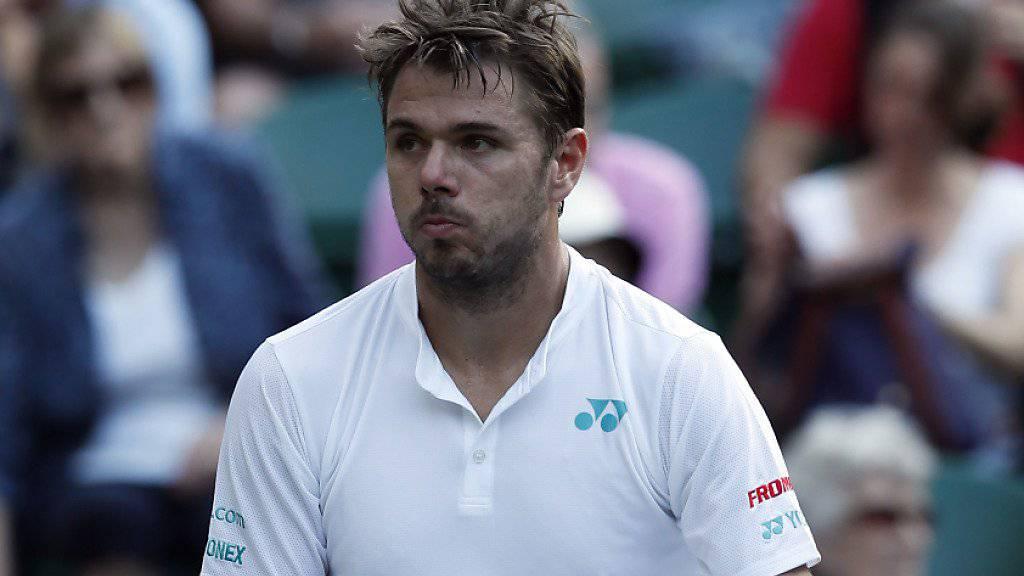 Stan Wawrinka scheitert in Wimbledon bereits zum Auftakt