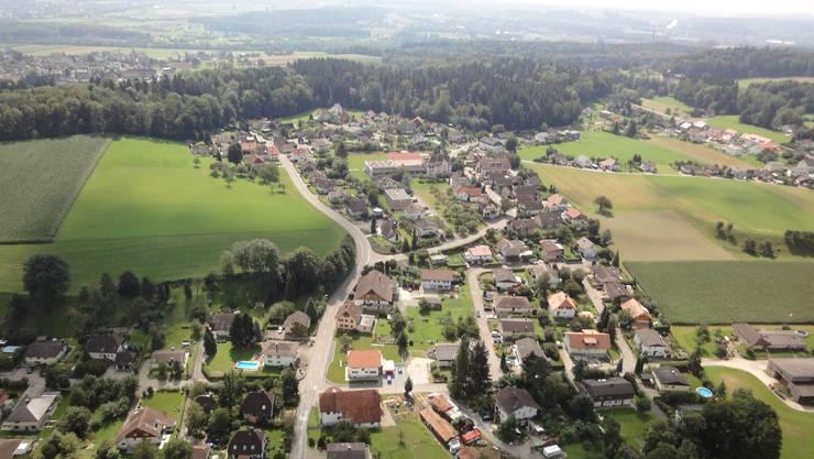 Blick auf die Gemeinde Hubersdorf