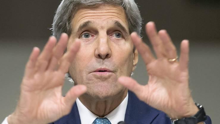 US-Aussenminister John Kerry versucht, den Kongress - das Parlament in Washington - von einer Zustimmung zum Atomabkommen mit dem Iran zu überzeugen.
