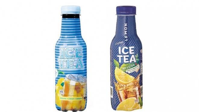 Gut inspiriert oder schlecht kopiert? Links das Migros-Original, rechts der Lidl-Ice-Tea. Foto: HO