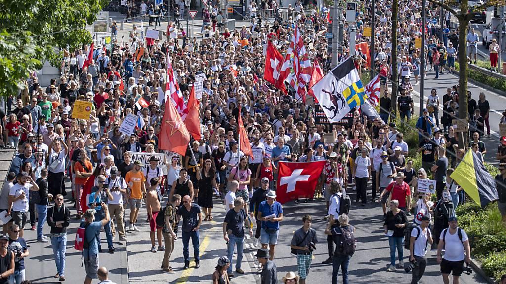 Polizei zeigt Organisatoren von unbewilligter Demo in Luzern an