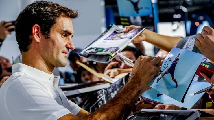 Family first. Roger Federer spielte in der Winterpause in Südamerika und China und verzichtet auf eine Teilnahme beim ATP-Cup.