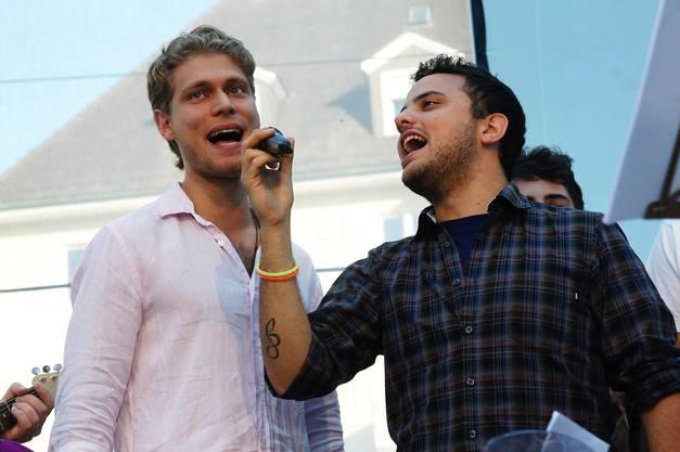 Die Solisten Giuseppe Gaudente und Daniele Saita