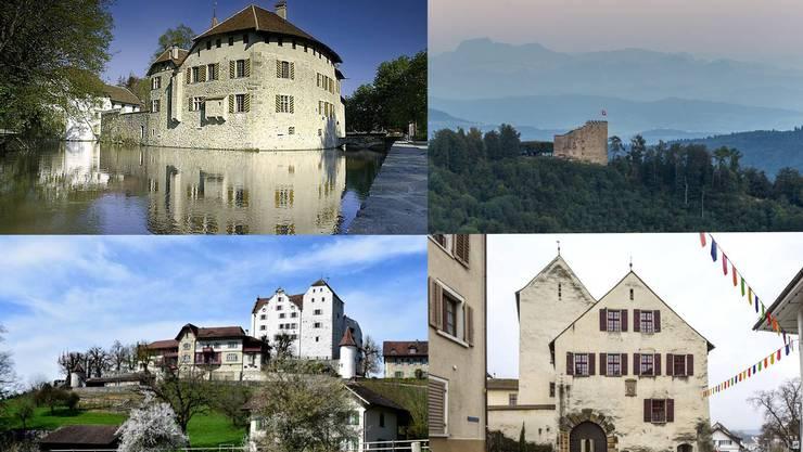 Manche sind Ihnen sicherlich bekannt, andere wohl weniger: Erfahren Sie mehr über die Vergangenheit und heutige Nutzung der Schlösser im Aargau.