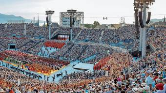 Die Arena in Vevey knüpft an das antike Stadion von 1955 an, ist aber mit modernster Technik ausgestattet. Bild: PD