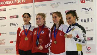 Die Medaillengewinnerinnen vom Karate-Team vom Budo Sport Center Liestal.